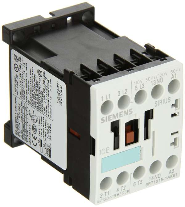 Contactor 3RT modelo 3RT10171AS61 tamaño S00