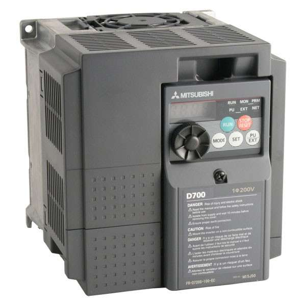 Inversor de frecuencia modelo  FR-D720S-042-NA de 1hp Mitsubishi