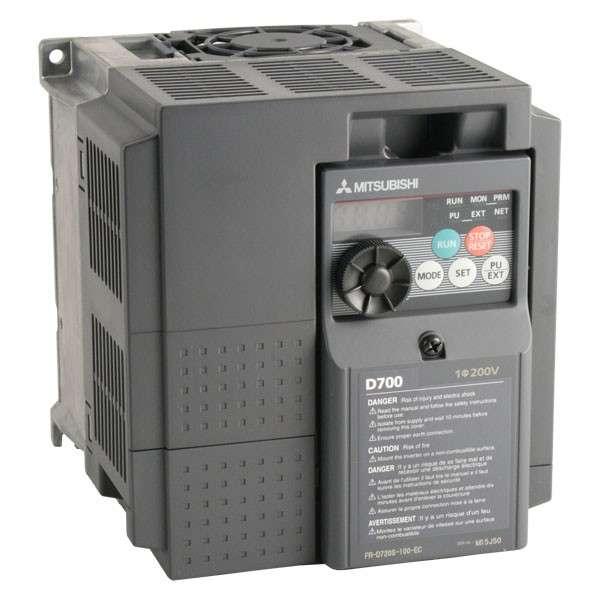 Inversor de frecuencia modelo  FR-D740-050-NA de 3hp Mitsubishi